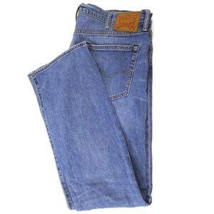 Levi's 504 Mens Straight Leg Blue Jeans Size 38x32